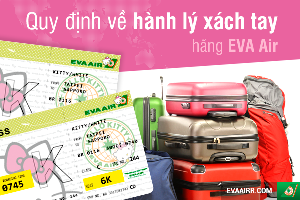 Quy định về hành lý xách tay EVA Air