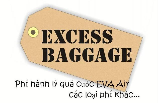 Phí hành lý quá cước EVA Air và các loại phí khác