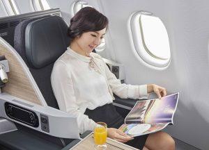 Các hạng ghế ngồi của Eva Air