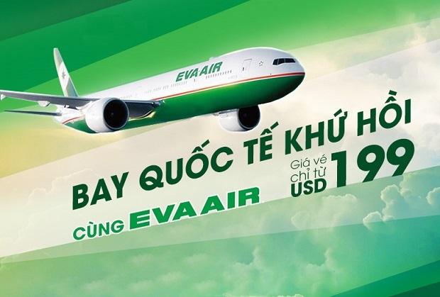 Vé máy bay giá rẻ hãng Eva Air