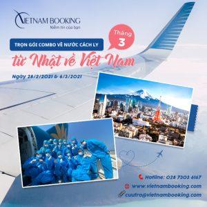 UPDATE Thông tin chặng bay Nhật Bản về Việt Nam | Tháng 3/2021