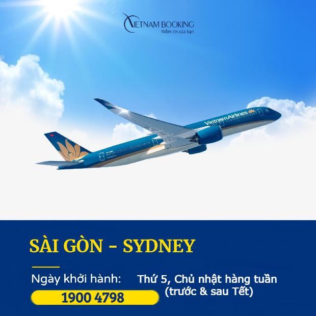 Lịch bay mới nhất của các chuyến bay Sài Gòn đi Sydney | Tháng 3/2021