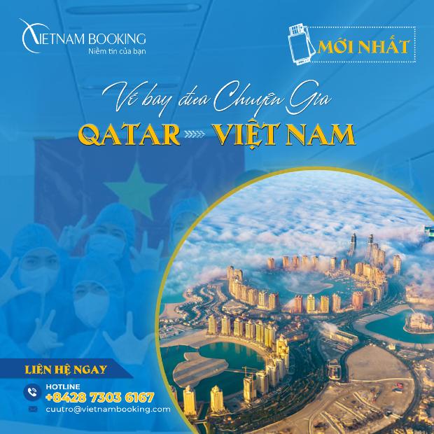 Chuyến bay đón chuyên gia từ Qatar về Việt Nam