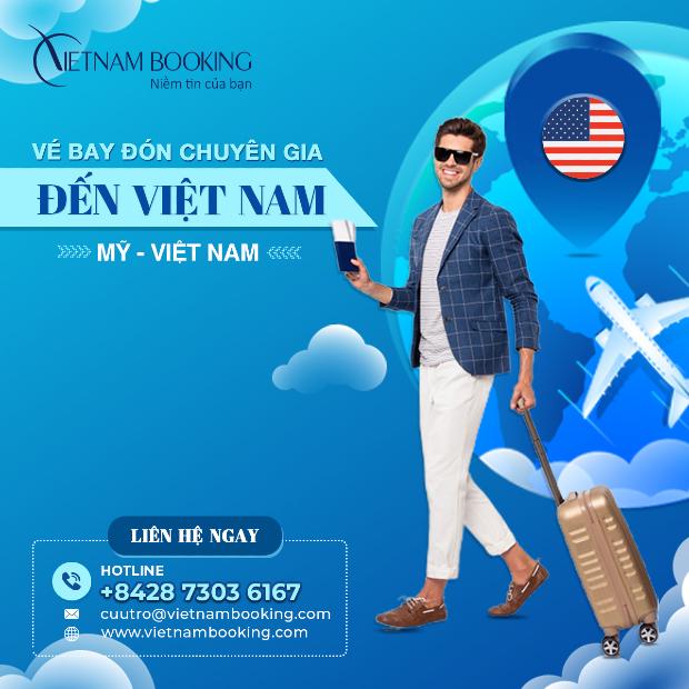 vé máy bay chuyên gia từ Mỹ về Việt Nam